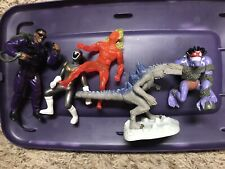 Lot Of Miscellanious Vintage Action Figure Toys Power Rangers, Godzilla Etc