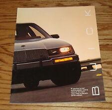 Original 1986 Buick T-Type Sales Brochure 86 Gran Sport Regal Riviera