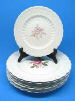 "Spode's Jewell Billingsly Rose Set Of 6 Dinner 10 1/4"" @ 2 Salad 7 3/4"" Plates"