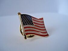 Stars & Stripes (USA)  American Flag Lapel Pin Badge  High Quality Gloss Enamel
