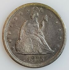 1875-s Twenty Cent Piece 20c San Francisco w/ XF Details