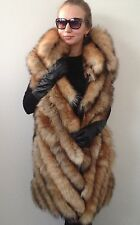 M - L   Fur fox beautiful  spectacular  jacket coat  vest