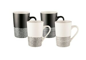 Bundanoon Tube Mug Set of 4 Monochrome Hem