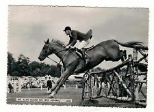 SHOW JUMPING. ALAN OLIVER ON RED ADMIRAL REAL PHOTO POSTCARD