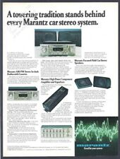 Feuerholz Auto Stereoanlage -1980 Vintage Print AD