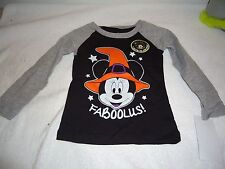 NEW DISNEY MINNIE MOUSE LONG SLEEVE TEE SHIRT FABOOLUS! GLOW IN THEDARK SIZE 12M