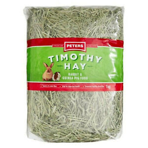 1KG US Grown Peters Timothy Premium Quality High fiber Hay Rabbit GuineaPig Food