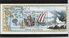 Faroe Islands Viking Miniature Sheet Mnh Issued 11 Feb 2002 My Ref 3050