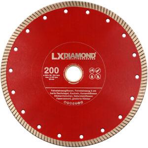 LXDIAMOND Diamant-Trennscheibe 200mm x 25,4mm Dauereinsatz Feinsteinzeug 2cm 3cm