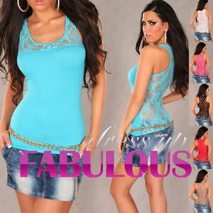 New WOMEN'S TOP Size 6 8 10 LADIES SINGLET CASUAL CLUBBING EVENING SHIRT XS S M