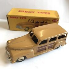 Vintage Dinky Toys Plymouth Woody Estate Car Station Wagon No. 344 Boxed Box A/F