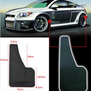 2 Pcs Black Plastic Carbon Filber Look Car Front Rear Fender Mud Guard Mudguard