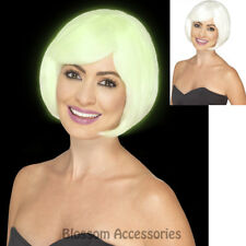 W443 Glow in the Dark Bob Short Costume Party Wig Lady Gaga Halloween Celebrity