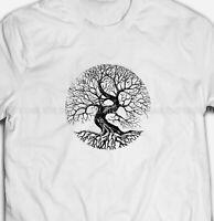 Mens or Womens Vikings Tree Of Life Symbol 100% COTTON S-5XL SIZE T-shirt Tee