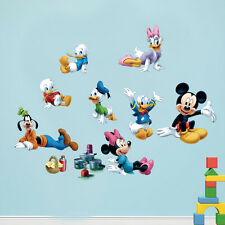 Removable Mickey Minnie Mouse Donald Duck Wall Sticker Mural Kids Nursery Decor