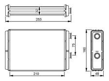 Heat Exchanger, interior heating NRF 53233
