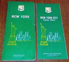 NEW YORK Guide du Pneu Michelin 1968 US Etats Unis Tourisme années 60 Carte Plan