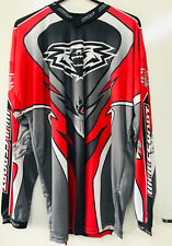 WULFSPORT TRIALS TOP RED/GREY/WHITE SIZE SMALL