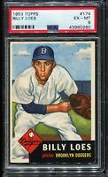 1953 Topps Baseball #174 BILLY LOES Brooklyn Dodgers PSA 6 EX-MT