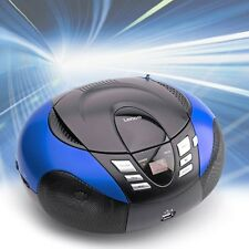 Tragbarer Ghettoblaster Boombox CD-Player USB MP3 WMA Radio Lenco SCD-37 blau