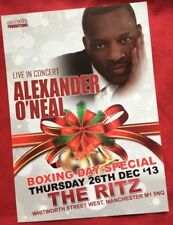 Alexander O'Neal @ The Ritz Manchester Boxing Day 2013 Promo Tour Flyer