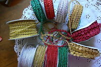 String of Pearls 2-3 & 9mm Wide 2 & 5 Metres 11 Colour/Style Choice May Arts V7