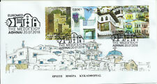 Greece 2018 - Euromed Med Houses - Fdc with 4 stamps from booklet - unofficial 1