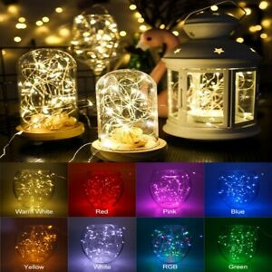 LED String Wire Fairy Light Indoor Outdoor Lamps Solar/USB Powered DIY Decor