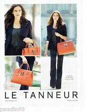 PUBLICITE ADVERTISING 106  2012  Maroquinerie le Tanneur sac Nina & Julie Erhard