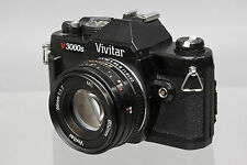 Vivitar V3000s Manual Focus SLR Camera Body with Vivitar 50mm f/1.7 Lens Refurbd