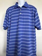 Bolle Golf Mens Sz XL Polo Shirt Blue White Striped