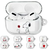 PEANUTS Snoopy Red for AirPods Pro Case Clear Hard Shell Cover LED Visible