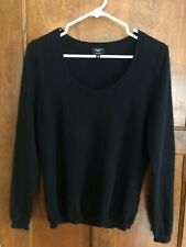Talbots Petite M Women's !00% Cashmere Black Sweater Long  sleeves