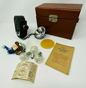 Vintage Bell And Howell 8MM Movie Camera In Box W Accessories Bulbs Case