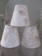 Handmade Candle Clip Lampshade Laura Ashley Oakshaw natural fabric