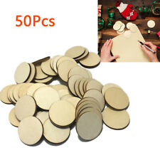 50pcs Blanks Wooden Round Circle Discs Embellishments Art Crafts 30mm Occasions