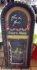 Ancien Grand Présentoir de restaurant Bistrot Menu Bois Style Rétro Vintage