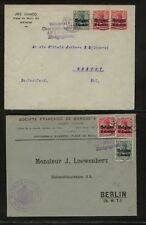 Belgium  German Occupation   2 covers  multiple  franking            MS1107