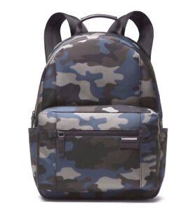 NWT Michael Kors Travis Camouflage Nylon Backpack Vintage Indigo Backpack $325