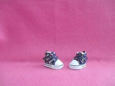"2"" NAVY BLUE COLOR DOTS SNEAKERS SHOES FOR 10-11"" MEADOWS DOLLS PATTI TELLA BJDS"