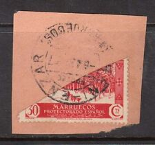 Spanish Morocco #159v VF Used Bisect On Piece