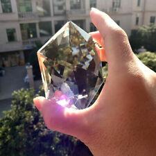 100MM Clear Glass Crystal Large Hexagram Prisms Pendant Suncatcher Fashion US