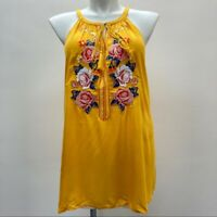 Andree by Unit Embroidered Sleeveless Tank Tunic Blouse Boutique Top Size 2X NWT
