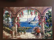 "Hangable Tile Mural XL / Kitchen Backsplash / Kitchen Art / Tile Art 21.3""x29.8"""