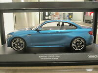 1:18 MINICHAMPS 2016 BMW M2 LONG BEACH BLUE *NEW*