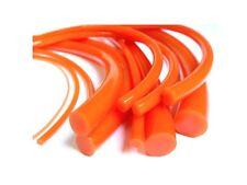 Orange Smooth Round Polyurethane Belting 2mm Diameter - Polycord Style