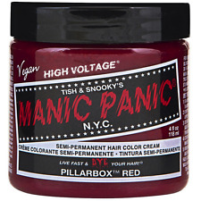 Manic Panic Semi-Permanent Hair Color Cream, Pillarbox Red 4 oz