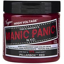 Manic Panic Semi-Permanent Hair Color Cream, Pillarbox Red 4 oz