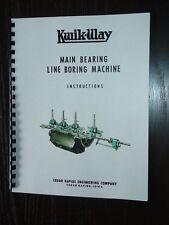 Kwik Way Portable Line Bore Manuals