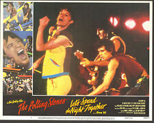 THE ROLLING STONES lobby card 1983 movie poster LET'S SPEND THE NIGHT TOGETHER